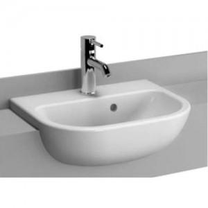 Vitra S20 Semi-Recessed Basin 45 x 35.5cm. 1TH - White [5521WH]