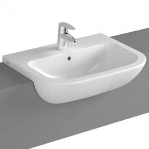 Vitra S20 Semi-Recessed Basin 55cm. 1TH - White [5524WH]
