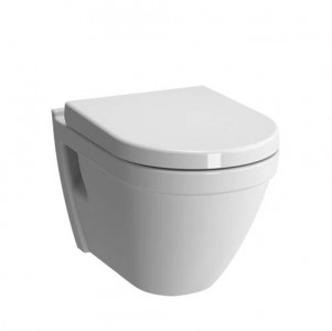 Vitra S50 Rimless Wall Mounted Pan - White [7740WH]