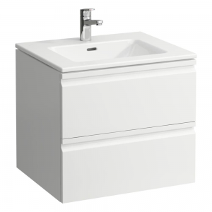 Laufen 619614751041 Pro S 60cm Vanity Unit with 2 Drawers & Basin - Gloss White