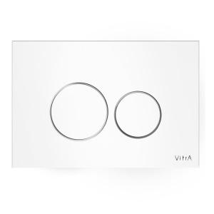Vitra Flush Plates  - Vetro - Glass Control Panel White [7401600]