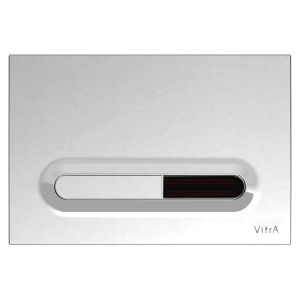 Vitra Loop T Electronic Flush Plate - Matt Chrome Plated  [7420885]