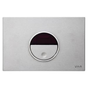 Vitra Pro Electronic Flush Plate -  Brushed Chrome [7481440]