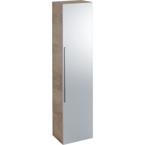 Geberit 841152000 iCon Tall Cabinet with Mirror Door - Natural Oak