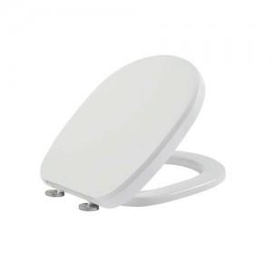 Tavistock Oval Soft Close WC Seat with chrome hinges - Gloss White  [8906WSC]