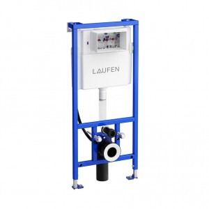 Laufen 112cm frame - standard depth cistern and integrated pipe for water supply. 50 (w) 112 (h) 14-19.5 (d) cm [946610000001]