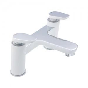 Pegler Gervasi White/Chrome Bath Filler waste not included [911102]