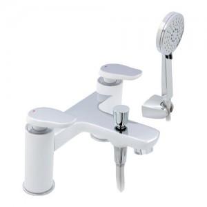 Pegler Gervasi White/Chrome Bath Shower Mixer waste not included [911103]