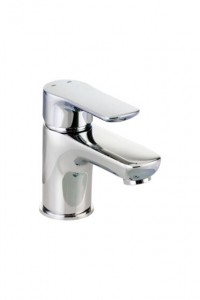 Pegler Andreu Mini Monobloc Basin Mixer with sprung plug waste - Chrome [922010]
