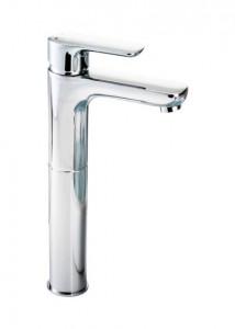 Pegler Andreu Tall Monobloc Basin Mixer with sprung plug waste - Chrome [922011]