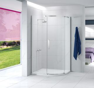 MERLYN A01OFQD Ionic Essence - Frameless 1 Door Offset Quadrant 1200mm