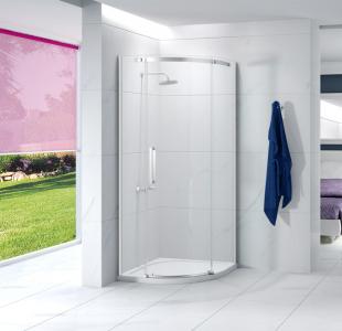 MERLYN A01QD9 Ionic Essence - Frameless 1 Door Quadrant 900mm