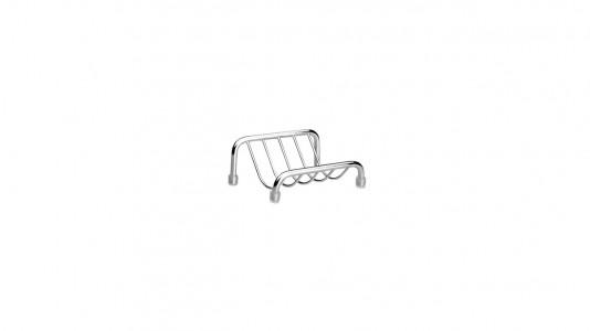 Inda Colorella Soap Holder 9 x 4h x 7cm - Chrome  [A05090CR003]