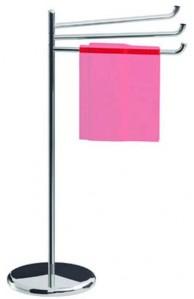 Inda Colorella Freestanding Towel Rail 55 x 88h x 28cm - Chrome  [A05840CR]