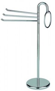 Inda Colorella Freestanding Towel Rail 55 x 96h x 28cm - Chrome  [A05850CR]