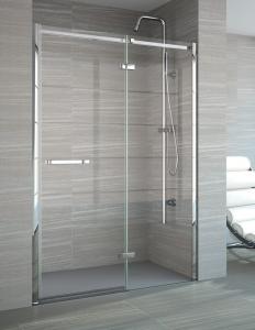 MERLYN A0607 Series 8 - Frameless Hinge & Inline Side Panel