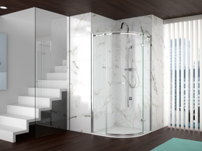 MERLYN A060FL1D Series 8 - Frameless 1 Door Quadrant without Shower Tray