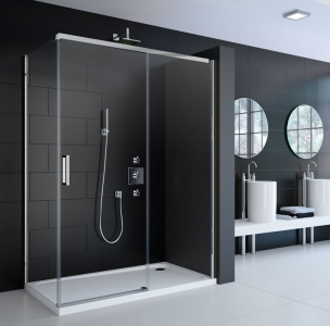 MERLYN A0920FRSeries 8 - Frameless Sliding Door without Shower Tray