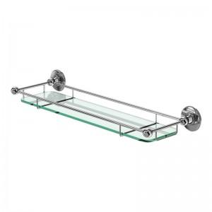 Burlington Shelf with Chrome Railing Glass shelf with chrome railing 53.2 x 6h x 16cm - Chrome  [A18CHR]