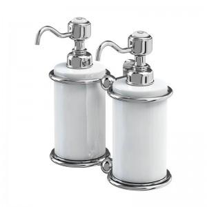 Burlington Double Liquid Soap Dispenser Double soap dispenser - Chrome  [A20CHR]