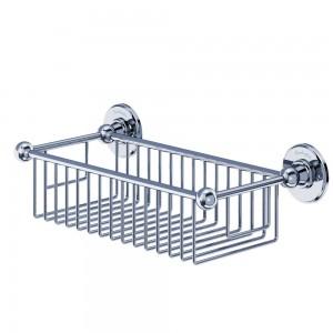 Burlington Deep Soap Basket Wire basket 62mm deep (155 x 330mm) - Chrome  [A23CHR]