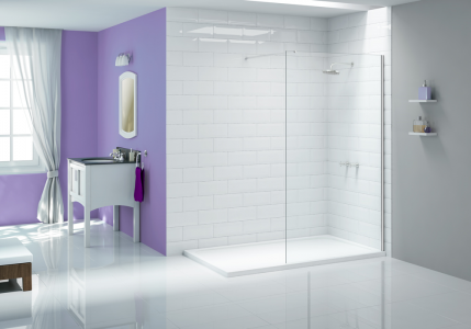 MERLYN A0413F0 Ionic Wetroom - Cube Panel 300mm