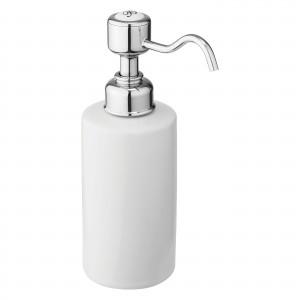 Burlington Surface Mounted Liquid Soap Dispenser Surface Mounted Liquid Soap Dispenser 7 x 11h x 7cm - Chrome  [A48CHR]