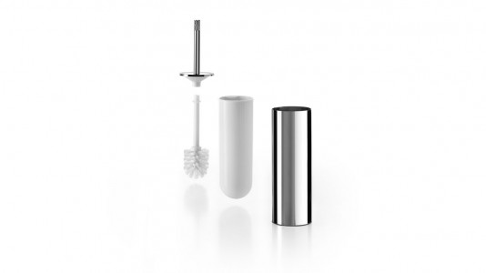 Inda Avenue Toilet Brush and Holder. Antibacterial. 9 dia x 43h cm - Smoke  [A57140DL]