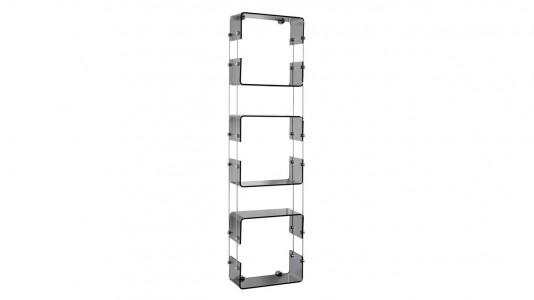Inda Avenue Multi Purpose Shelf. 32 x 113h x 13cm - Smoke  [A5783BDL]