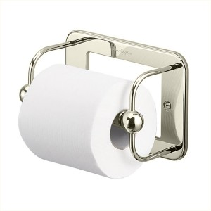 Burlington Toilet Roll Holder Toilet roll holder 17.6 x 12.2h x 8cm - Nickel  [A5NKL]