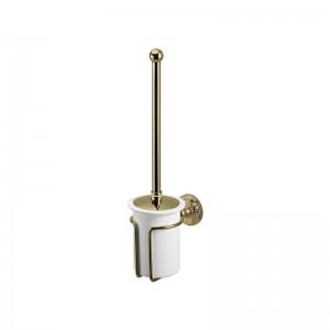 Burlington Accessories - WC Brush Holder - Gold  [A8GOLD]