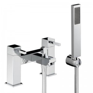 Abode AB1284 Zeal Deck Mounted Bath Shower Mixer with Shower Handset - Chrome