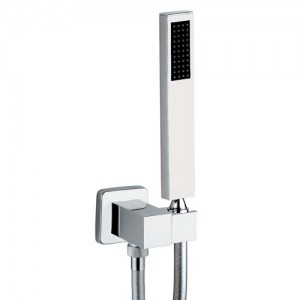 Abode Square Combined Wall Outlet Handshower and Bracket - [AB24532]