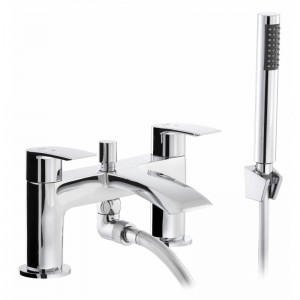 Abode AB2663 Loop Deck Mounted Bath Shower Mixer with Shower Handset - Chrome