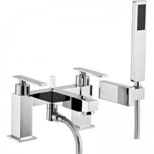Abode AB4084 Marino Deck Mounted Bath Shower Mixer with Shower Headset - Chrome