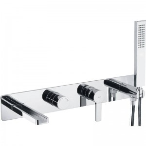 Abode AB4095 Modo Wall Mounted Bath Shower Mixer with Shower Handset - Chrome