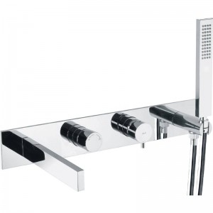 Abode AB4176 Cyclo Wall Mounted Bath Shower Mixer with Shower Handset - Chrome