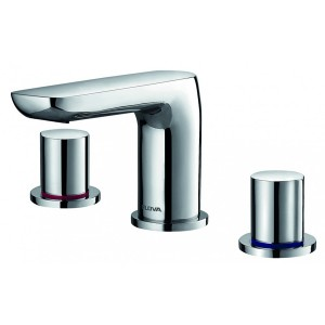 FLOVA Allore 3-hole basin mixer with clicker waste set  AL3HBAS