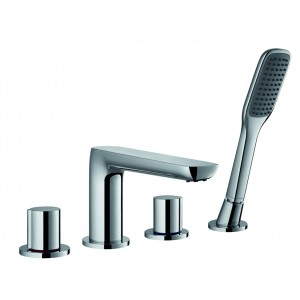 FLOVA Allore 4-hole bath and shower mixer with shower set  AL4HBSM