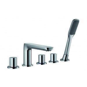 FLOVA Allore 5-hole bath and shower mixer with shower set  AL5HBSM