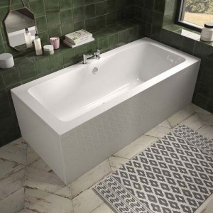 The White Space ALU1770 Aluna Double Ended Bath 1700 x 700mm - White