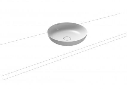 Kaldewei Miena Round Bowl 38cm Diameter. No overflow [909406003001]