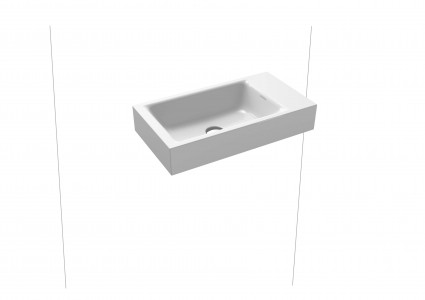 Kaldewei Ambiente Puro Wall Mounted Basin 46 x 46cm. One tap hole [901306013001]