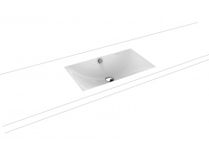 Kaldewei Ambiente Silenio Undercounter Basin 63.4 x 39.1cm. No tap hole. Internal dimensions 59.4 x 35.2cm [906006003001]