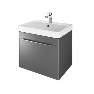 The White Space AMF60AG Americana 58.5cm Wall Hung Vanity Unit - Anthracite Grey