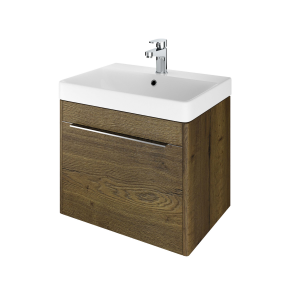 The White Space AMF60TO Americana 58.5cm Wall Hung Vanity Unit - Oak