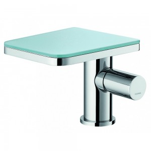 Flova ANBASGL Annecy Glass Basin Mixer with Clicker Waste Set