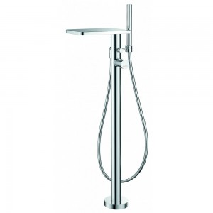 Flova ANFMBSM Annecy Chrome Floor Standing Single Lever Bath & Shower Mixer with Shower Set