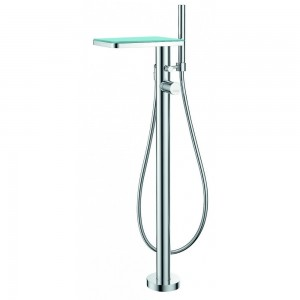 Flova ANFMBSMGL Annecy Glass Floor Standing Single Lever Bath & Shower Mixer with Shower Set
