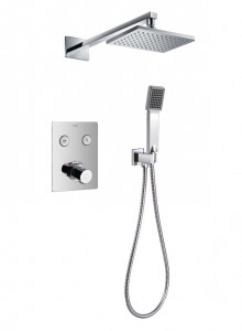 Flova ANT2WPK2 Annecy/Cascade GoClick Thermostatic 2-Outlet Shower Valve with Fixed Head & Handshower Kit
